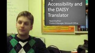 Open XML Accessibility and the DAISY Translator [1/2]