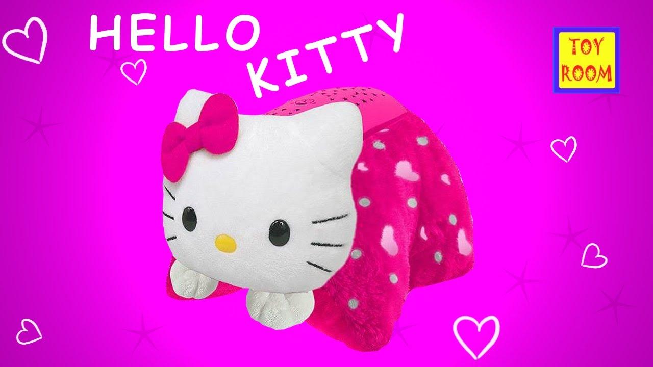 hello kitty mini pillow pet toy starry sky nightlight