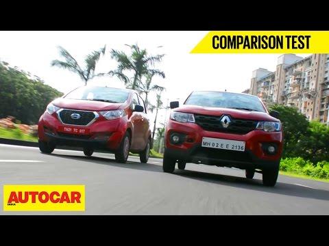 Renault Kwid VS Datsun Redigo   Comparison Test   Autocar India