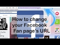 How to change your facebook username url link for your fan or business page mp3