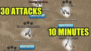 LAST MINUTE WAR ATTACKS IN CLASH OF CLANS