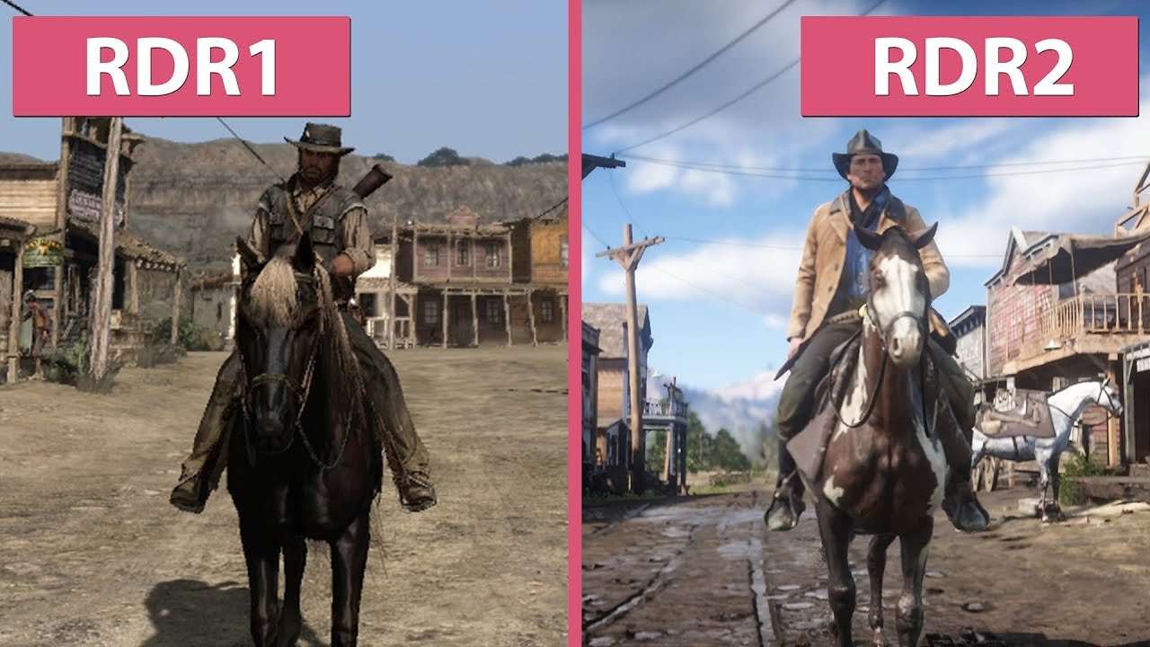 Red Dead Redemption 1 (2010) vs  Red Dead Redemption 2 (2018) Trailer  Graphics Comparison