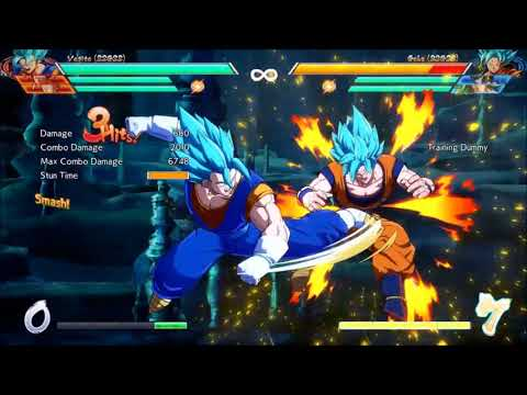 Vegito dragonball fighterz MAX damage BNB combos revisited..  comparisons and notes