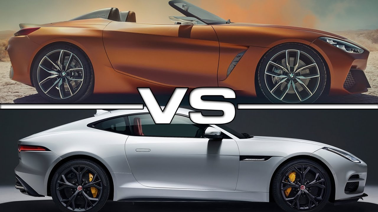 2018 Bmw Z4 Concept Vs 2017 Jaguar F Type Svr Youtube