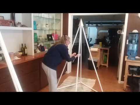 Demonstrating the Energy Field of the Newly Redesigned Russian PVC Pyramid