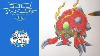 How to draw Tentomon テントモン [Digimon Tri] drawing tutorial