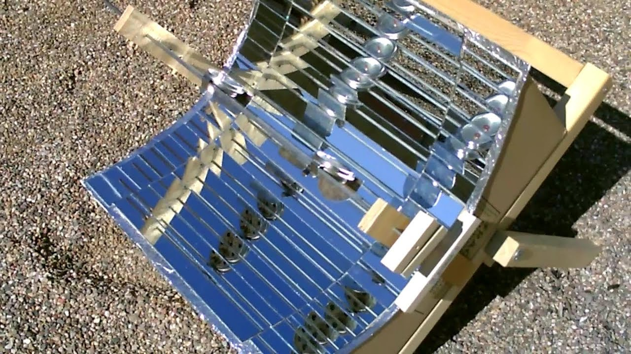 Diy Solar Cooker Fully Mirrorized W Glass Mirror Conversion Cooks Great 14 Easy Diy