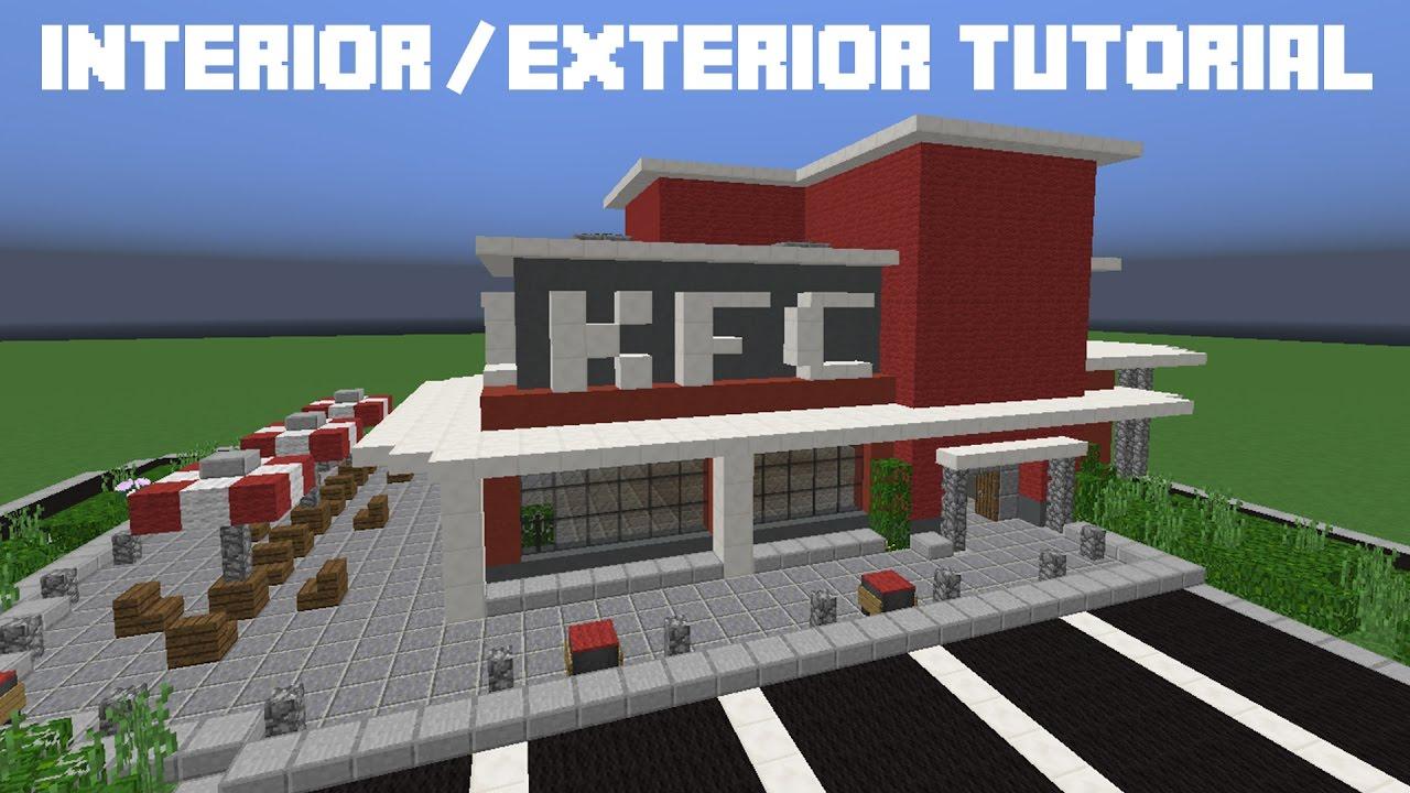 Minecraft Tutorial: KFC Interior / Exterior - YouTube