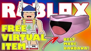 Free Virtual Item in Roblox! - Best Mode Bandana | Roblox Celebrity Series 2 Unboxing - JustMomma