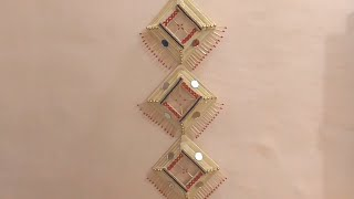 DIY - HOW TO MAKE WALL HANGING TORAN FROM POPSICLE STICK || HOW TO MAKE DECOR FROM ICE CREAM STICK |