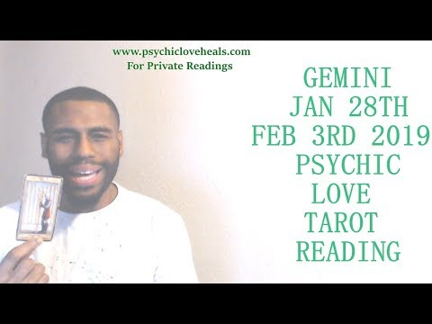 "GEMINI JAN 28TH FEB 3RD 2019 ""A FANTASY OR ARE WE TRULY MEANT TO BE TOGETHER?"" LOVE TAROT"