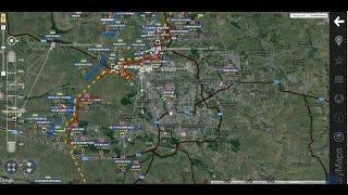 Обзор карты боевых действий 11 04 2015 на 18 00   YouTube