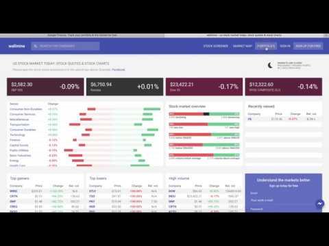 wallmine portfolios - Google Finance portfolio alternative