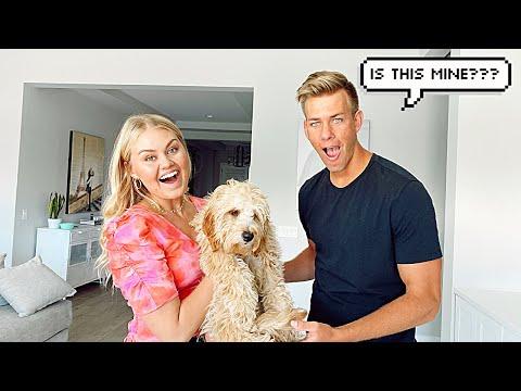 SURPRISING MY HUSBAND WITH A PET DOG PRANK!