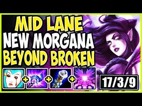 MID LANE NEW MORGANA BUILD! REWORKED MORGANA IS BEYOND BROKEN! LoL New Morgana MID Season 9 Gameplay
