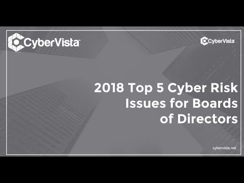 2018 Top 5 Cyber Risk Issues for Boards of Directors