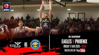 2019-20 BBL Championship: Newcastle Eagles v Cheshire Phoenix - 17 Jan 2020