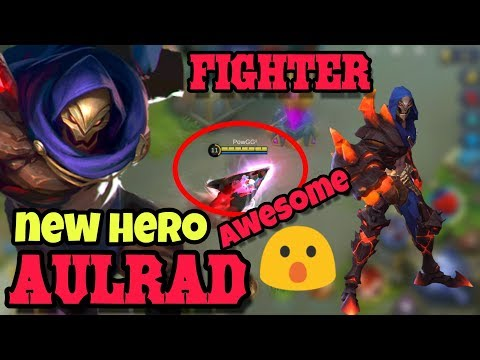 New Hero AULRAD Best Fighter Review + Gameplay Of His Skill (CUSMOD) | MLBB Update