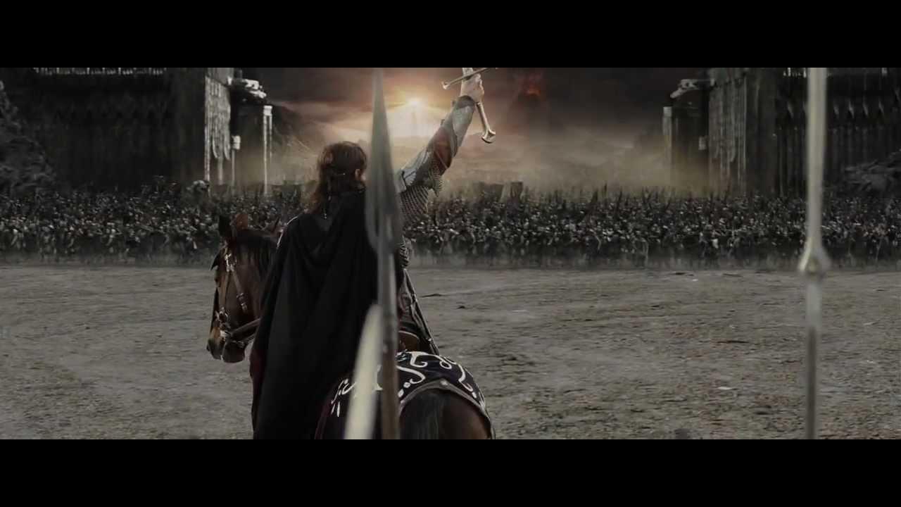 (HD) Discours Aragorn, Le seigneur des anneaux, Le retour