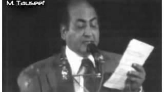 Muhammad rafi  Live - Kya hova tera wada