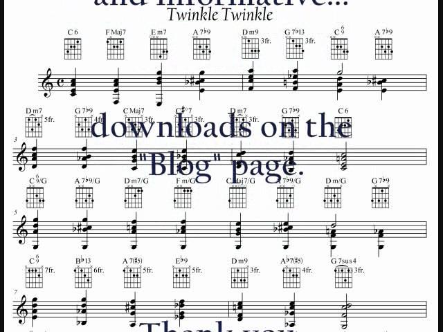 Twinkle Twinkle Little Star Jazz Chords Chordify