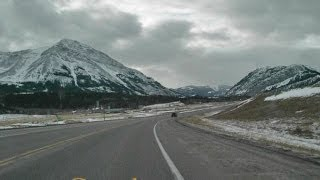 Highway 3, The Crowsnest Highway - Westbound in Winter - pt 1 of 6 - time lapse