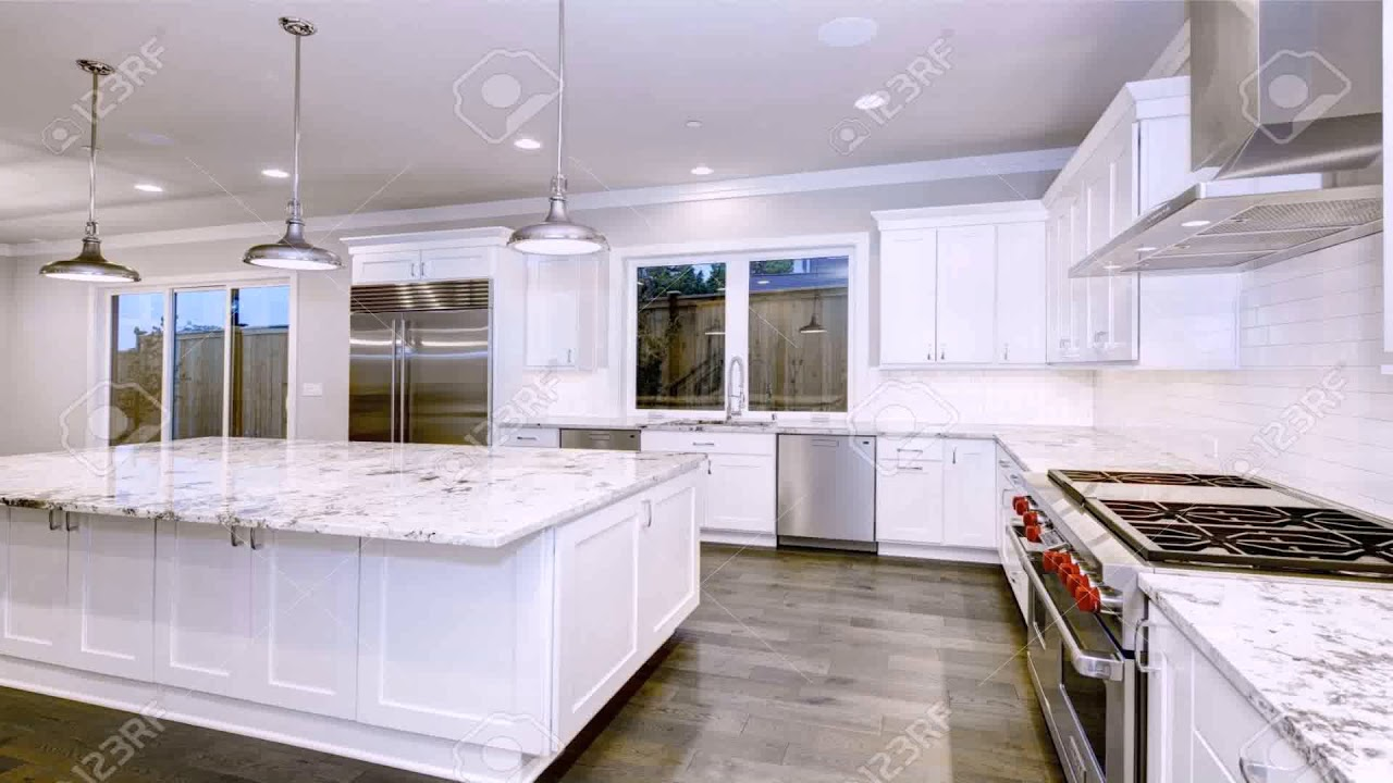 White Kitchen Cabinets With Grey Granite Countertops Youtube