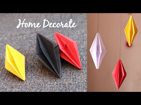 DIY Room Decorate With Paper | Home decor | Make7