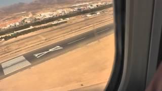 Anflug und Landung auf Fuerteventura. 29.06.2013