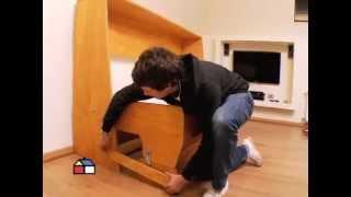 ¿Cómo construir un escritorio con cama plegable