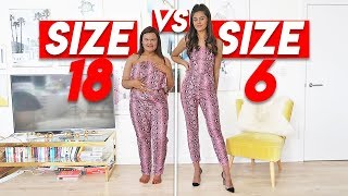 SIZE 6 vs SIZE 18 Try ON THE SAME PLT OUTFITS!