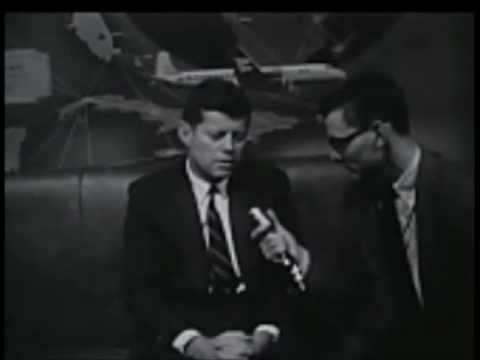1958 - Senator John F. Kennedy interviewed in Dallas, Texas