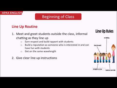 Student Management - Line up Routine