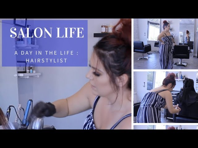 A day in the Life of a Hairstylist   Shopping, Cleaning, Salon Life   Booth Rental
