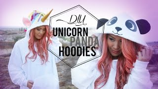 DIY Cosplay Unicorn & Panda Costume Hoodies | ANNEORSHINE Thumbnail