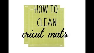 How to clean your Cricut mats Dawn dish soap and its easy thumbnail