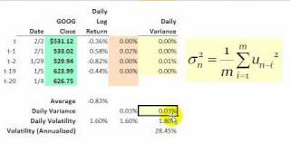 FRM: How to calculate (simple) historical volatlity screenshot 5