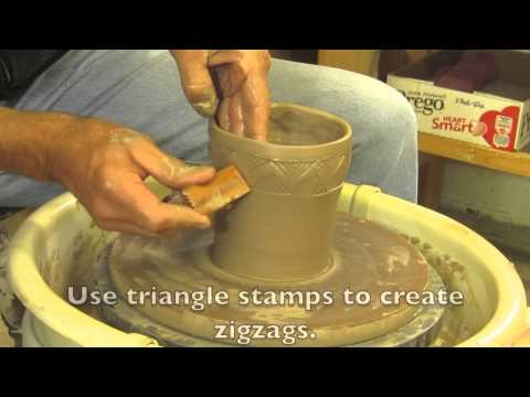 MKM Tutorial: Using Stamps on a thrown bowl.