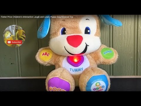 Fisher Price Children's Interactive Laugh And Learn Puppy Dog Musical Toy