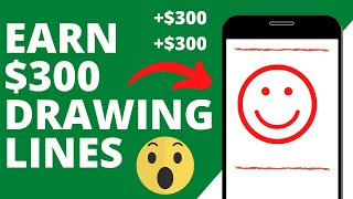 Get Paid $300 Daily Drawing Lines Free Fast Easy Paypal Money Machine   Make Money Online