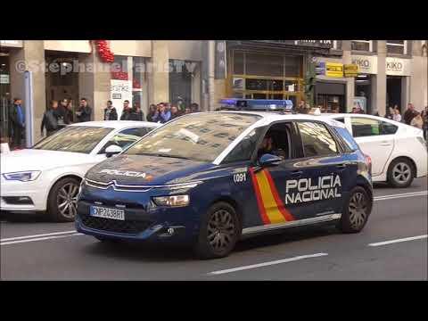 Madrid police car responding