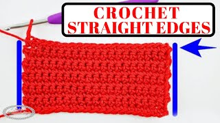 Crochet STRAIGHT EDGES  in Rows Every Time - Easy Formula