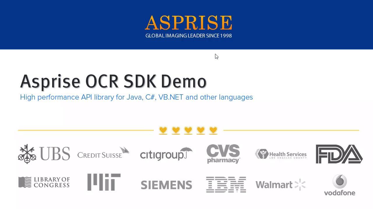 Asprise ocr for java c vb api component library sdk demo asprise ocr for java c vb api component library sdk demo royalty free unlimited end users baditri Images