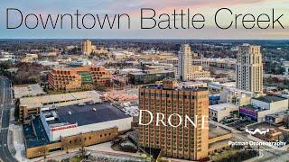 Drone Downtown Battle Creek