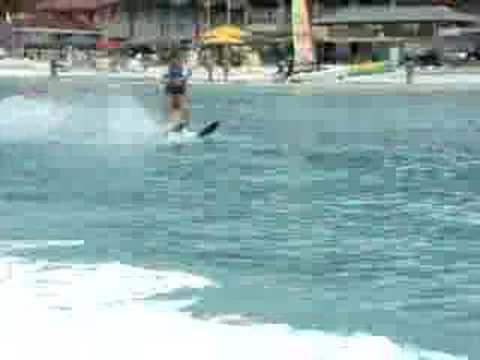 Water skiing in Antigua