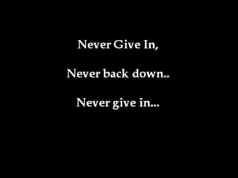 Never Give In by Black Veil Brides (lyrics)