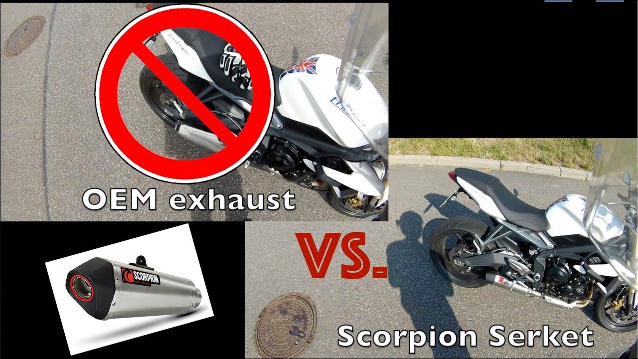 Exhaust Stock Vs Scorpion Serket Taper Autos Post