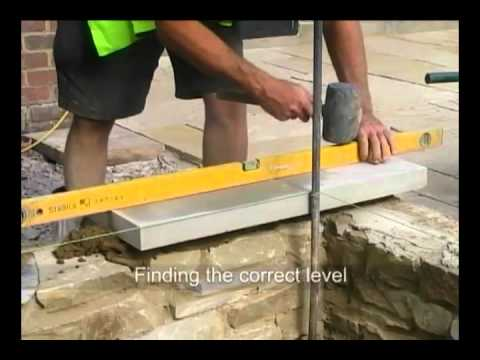 Stoneuk Com Laying A Coping Stone On A Natural Croped
