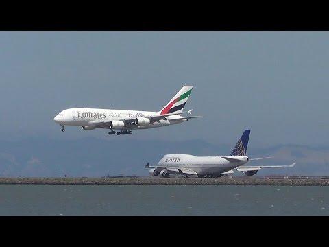 (7-30-15) [HD] Plane Spotting at San Francisco Int'l Airport (KSFO)