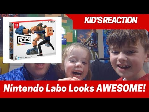 Kids Reaction to Nintendo Labo for Nintendo Switch